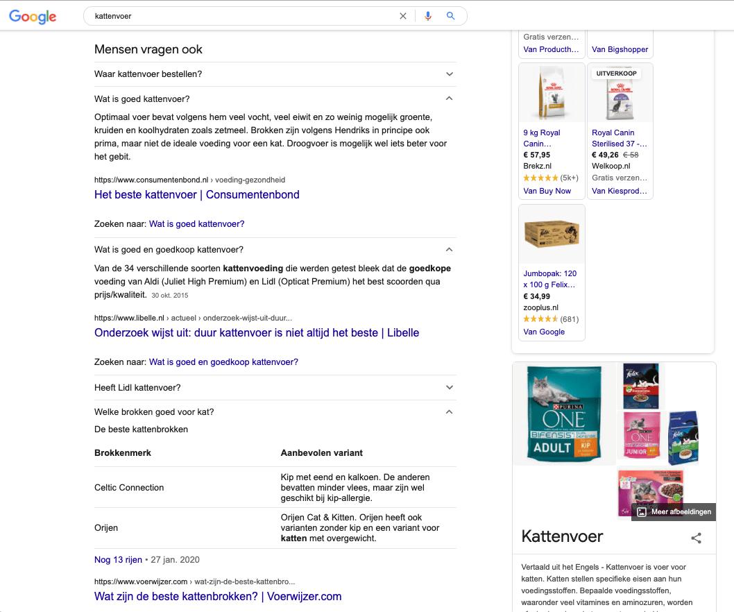 kans voor kleine spelers en b merken in de mensen vragen ook google serp so